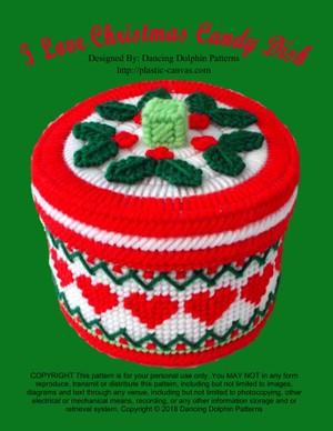 458 - I Love Christmas Candy Dish