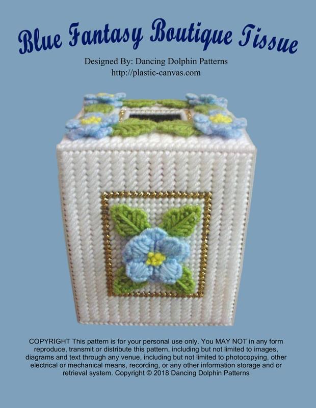 327 - Blue Fantasy Boutique Tissue