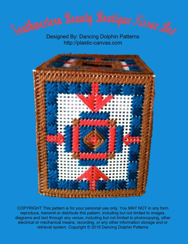 008 - Southwestern Beauty Boutique Tissue Box