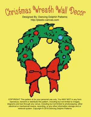 589 - Christmas Wreath Wall Decor