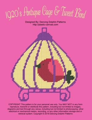 539 - 1920's Tweet Bird w/Cage