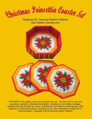 394 - Christmas Poinsettia Coaster Set