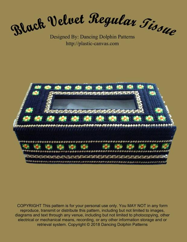 457 - Black Velvet Regular Tissue