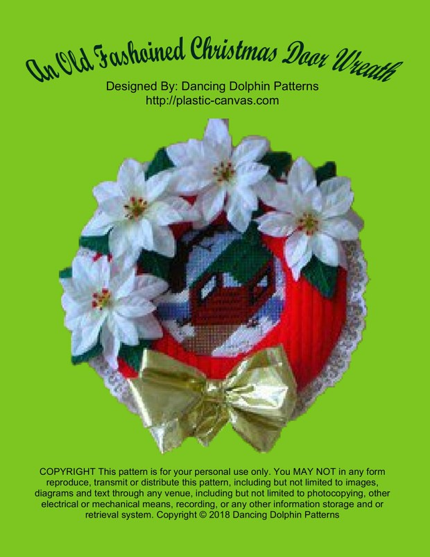 102 - An Old Fashioned Christmas Door Wreath