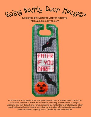 382 - Going Batty Door Hanger