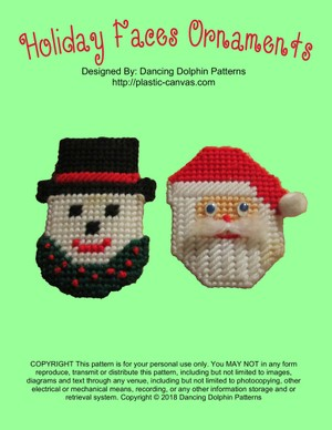 282 - Holiday Faces Ornaments