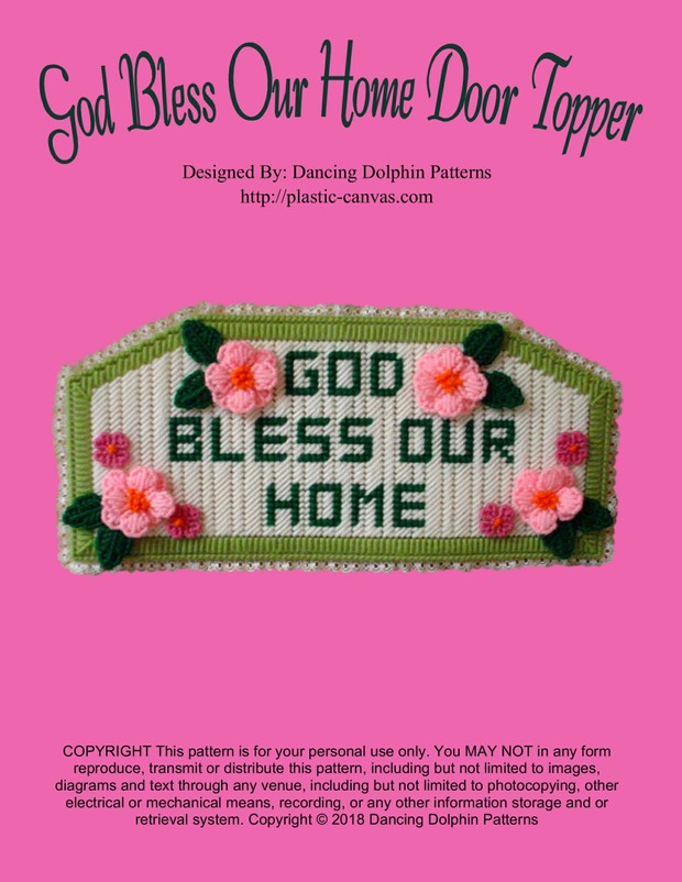291 - God Bless Our Home Door Topper