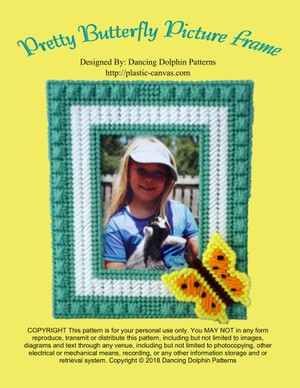 445 - Pretty Butterfly Picture Frame