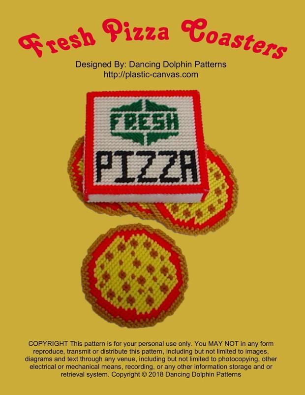 489 - Fresh Pizza Coasters