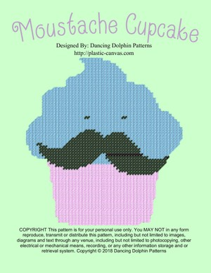 543 - Moustache Cupcake