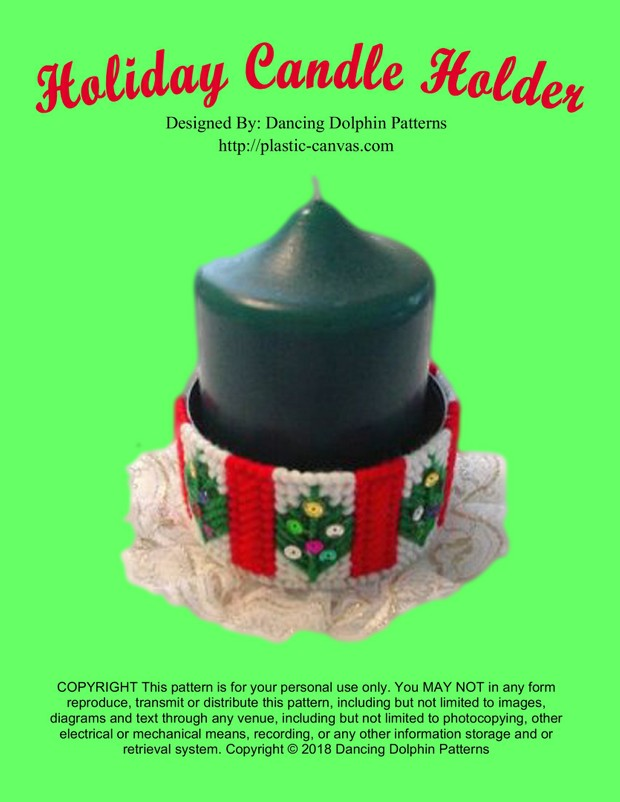 194 - Holiday Candle Holder