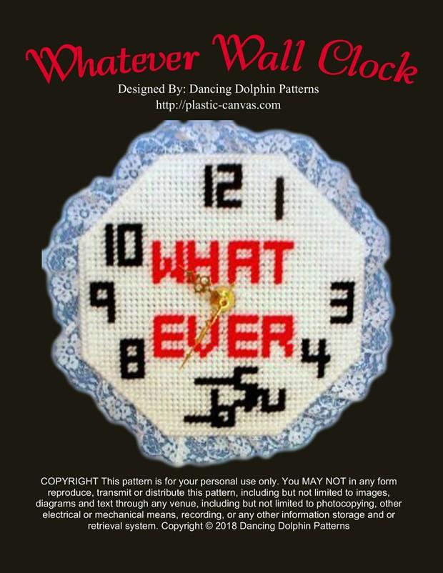 134 - Whatever Wall Clock
