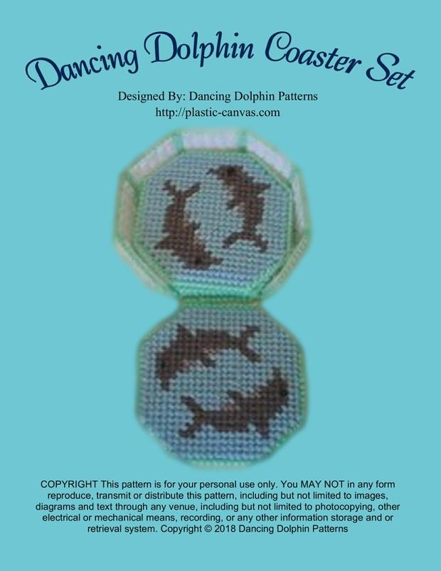 478 - Dancing Dolphin Coaster Set