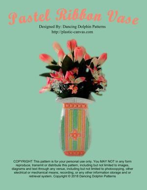 174 - Pastel Ribbon Vase