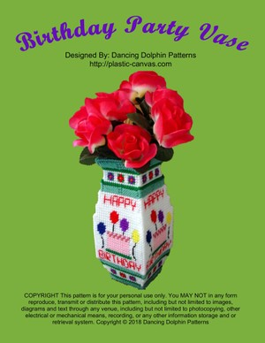 452 - Birthday Party Vase
