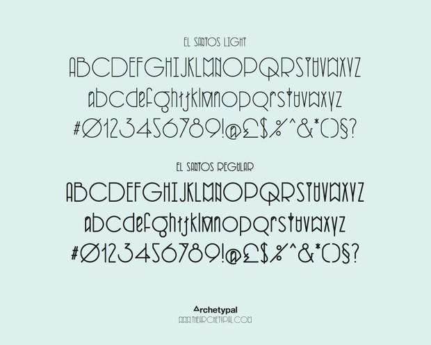 El Santos Typeface