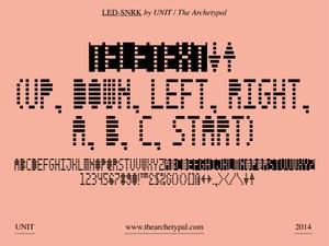 LED-SNRK Typeface