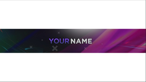 Clean YouTube Banner Template (PSD File) - Parallaxx