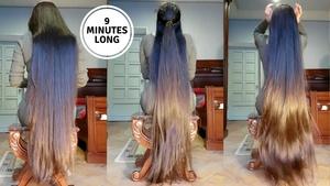 9 Minutes of Gohar Heaven, Brushing , Braid, Ponytail and Bun Drops
