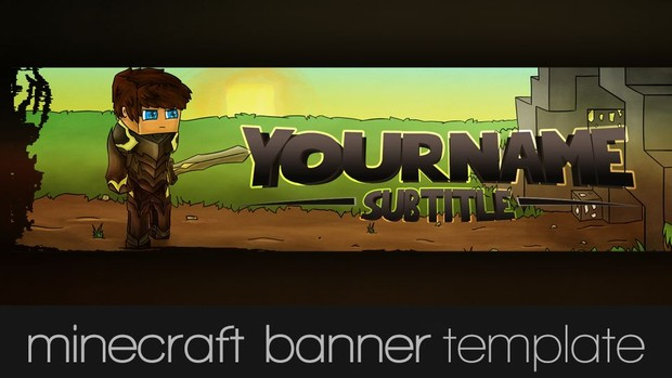 Minecraft Youtube Banner- Warrior