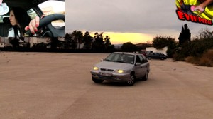 DONUTS  DRIVING TEST TO THE OLD CITROEN XANTIA