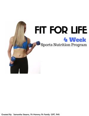 Body Transformation- One Month Sports Nutrition Program