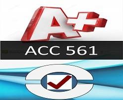 ACC 561 Week 3 Ratio Analysis