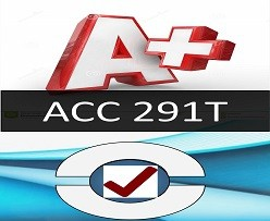 ACC 291T Week 4 Practice: Connect® Knowledge Check