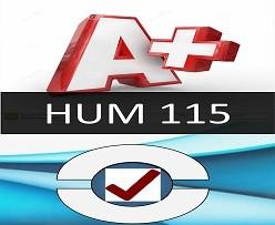 HUM 115 Entire Course(Latest)