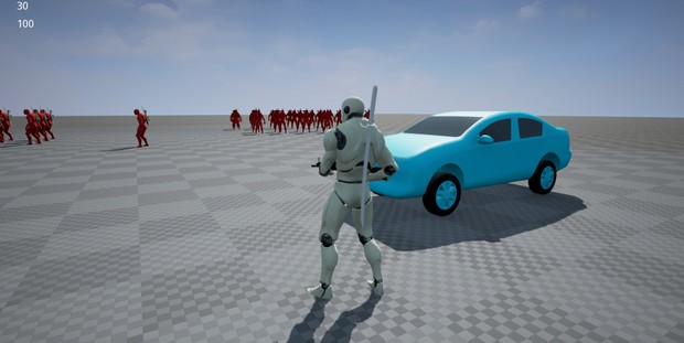 Melee combat / Action game, TPS template. Unreal Engine 4