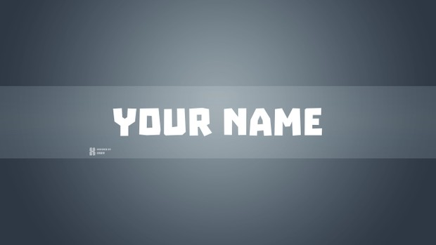 Basic youtube channel art template