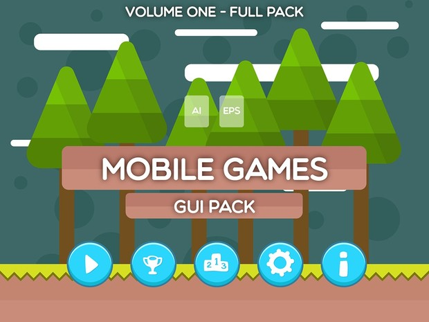 Mobile Games GUI Pack - Volume One