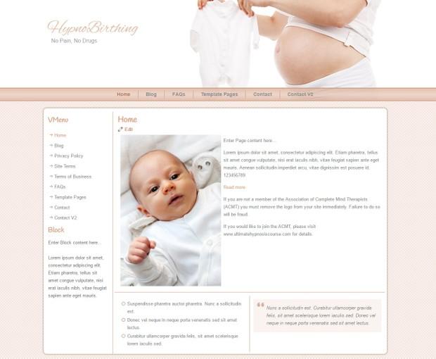 HypnoBirthing Wordpress Themes