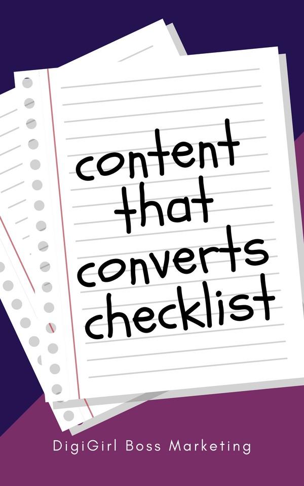 Content That Converts Checklist