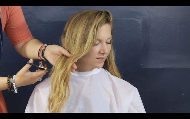 Corrine Raffles Her Hair Away (VIDEO AND PICTURES)