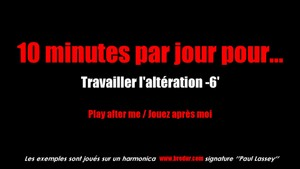 10 minutes par jour - Altération d'un demi-ton du trou numéro 6