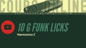 10 G Funk Licks - Harmonica C