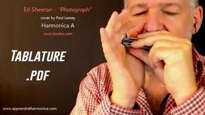 Ed Sheeran - Photograph - Harmonica A - Tablature
