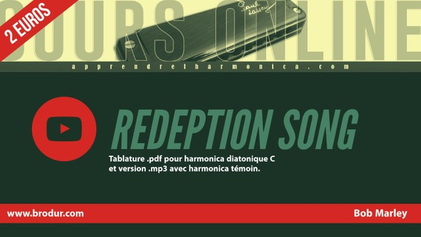 Tablature Harmonica ''Redemption song'' - Bob Marley