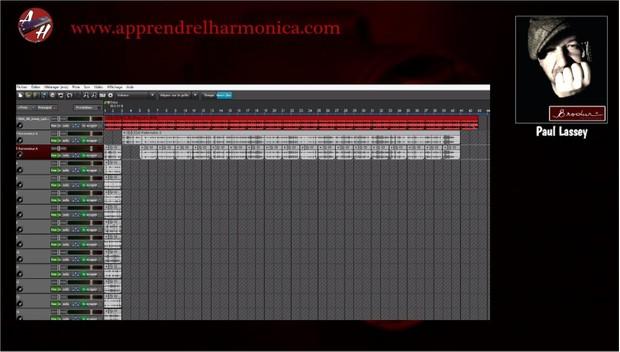 19 phrases - Blues Shuffle in E - Harmonica A