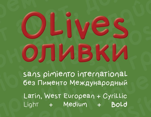 Olives sans Pimiento International Font