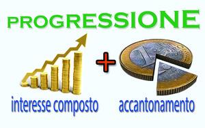 Progressione con interesse composto ed accantonamento