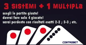modalità di gioco: 3 sistemi + 1 multipla