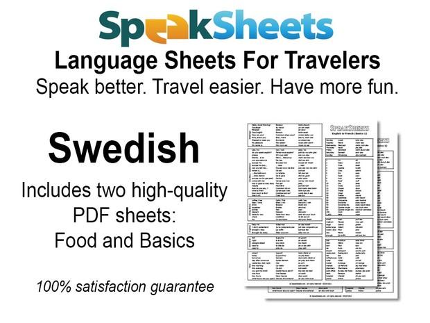Swedish Travel Language Set