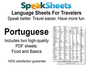 Portuguese Travel Language Set