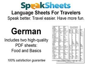 German Travel Language Set