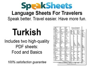 Turkish Travel Language Set