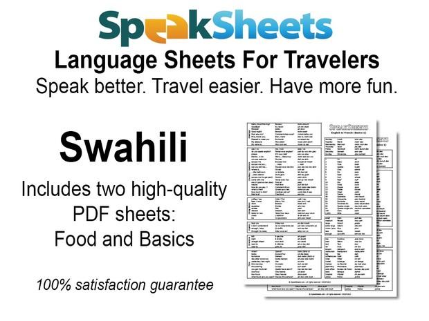 Swahili Travel Language Set
