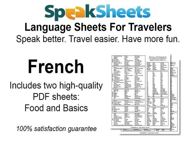 French Travel Language Set