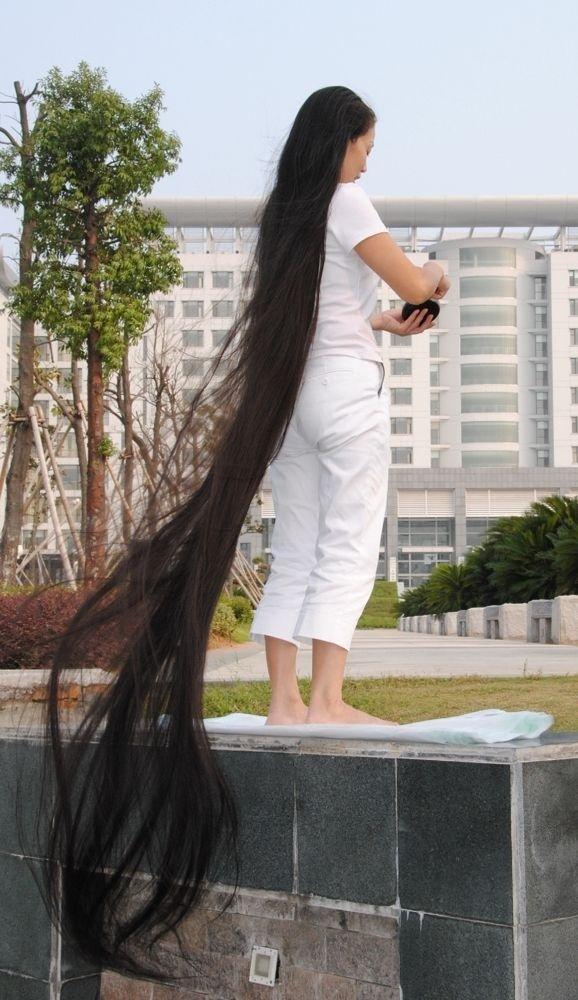 Xia Aifeng Very Long Hair Show Zack Loves Long Hair